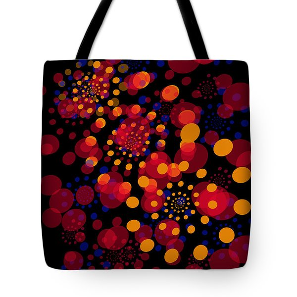Party Time Abstract Painting Tote Bag by Claudia Ellis