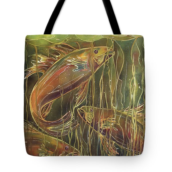 Party Under The Lily Pads II Tote Bag