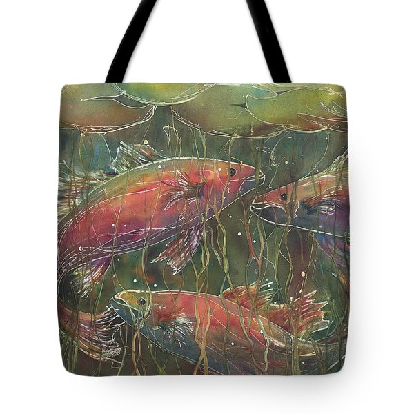 Party Under The Lily Pads Tote Bag