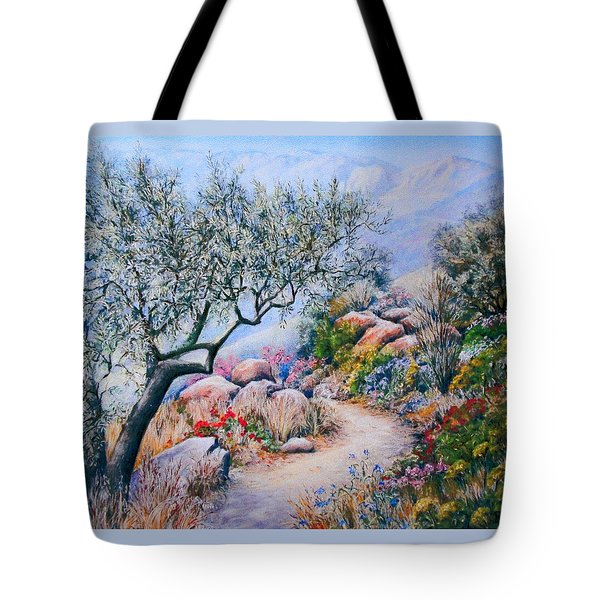 Tote Bag featuring the painting Paseo De Flores by Rosemary Colyer