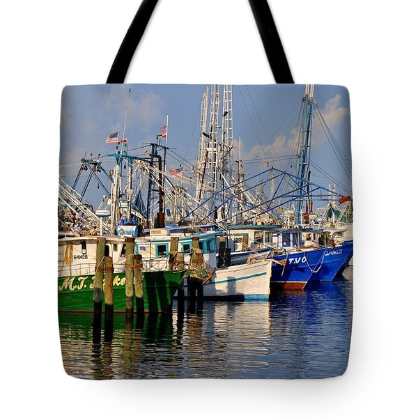 Pass Christian Harbor Tote Bag by Charlotte Schafer