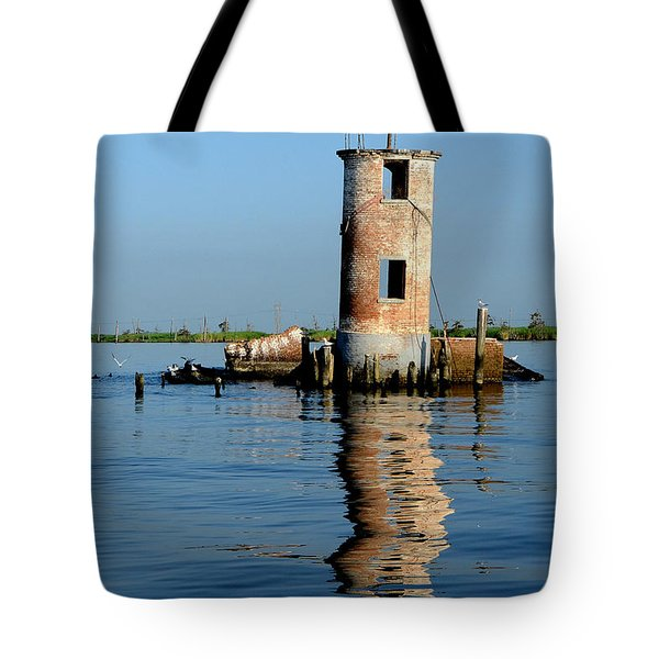 Tote Bag featuring the photograph Pass Manchac Lighthouse by Charlotte Schafer