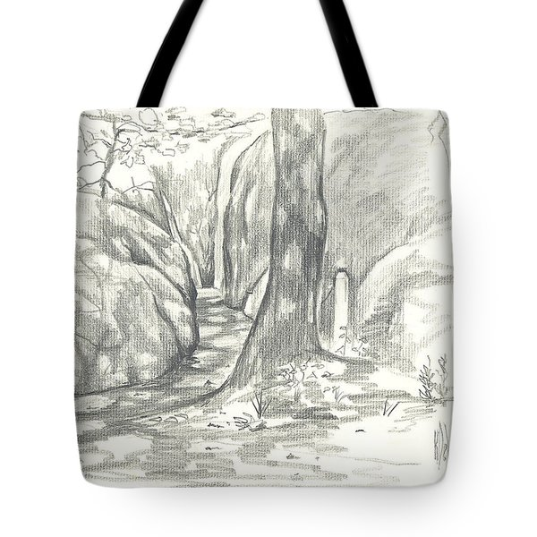 Passageway At Elephant Rocks Tote Bag