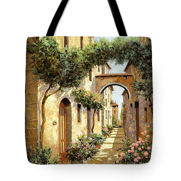 Tote Bag featuring the painting Passando Sotto L'arco by Guido Borelli