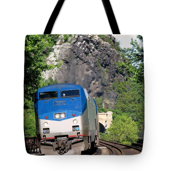 Passenger Train Locomotive Tote Bag