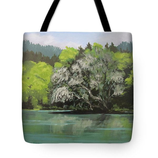 Tote Bag featuring the painting Passing by Karen Ilari