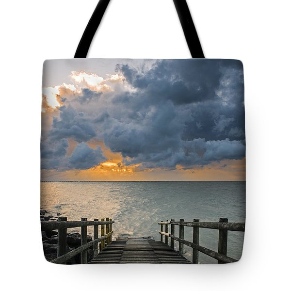 Passing Storm Tote Bag by Trevor Chriss