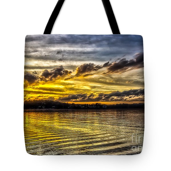 Tote Bag featuring the photograph Passing Storm Two. by Bernd Laeschke