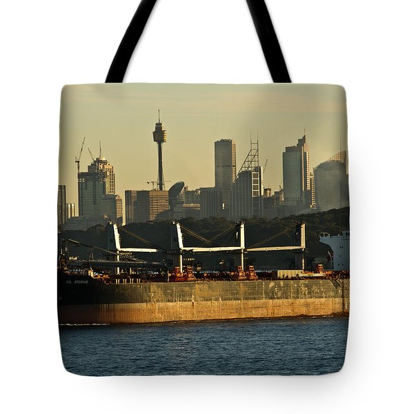 Tote Bag featuring the photograph Passing Sydney In The Sunset by Miroslava Jurcik
