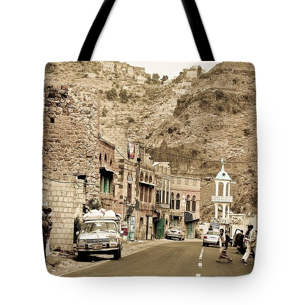Passing Through A Village Tote Bag by Charuhas Images