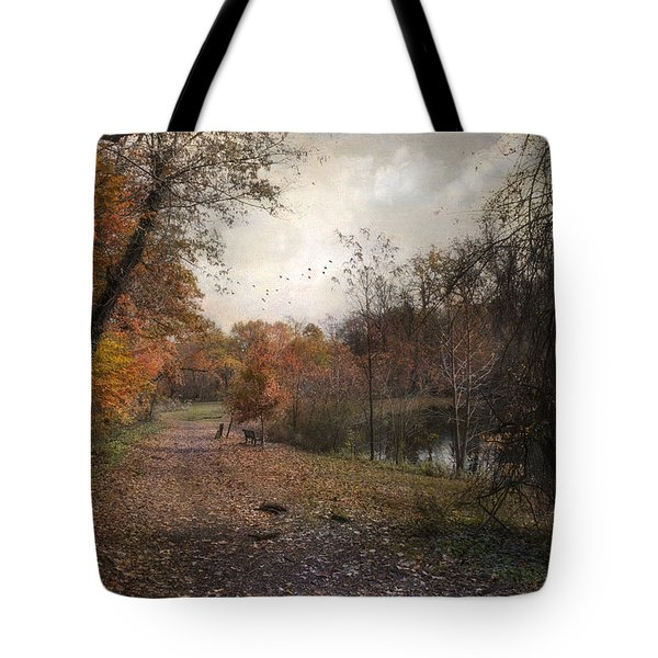 Tote Bag featuring the photograph Passing Through Hopkins Pond by John Rivera