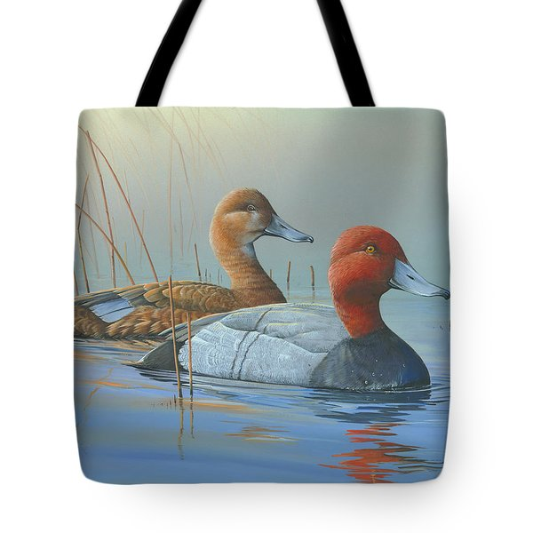 Tote Bag featuring the painting Passing Through by Mike Brown