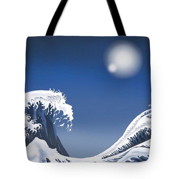 Passing Wave Tote Bag