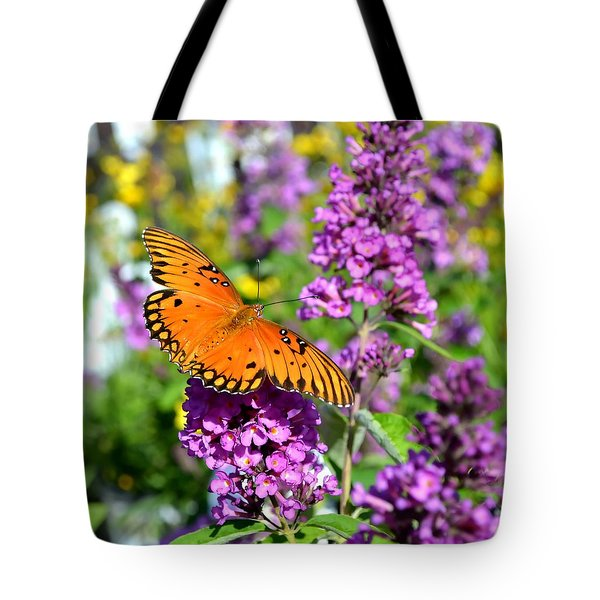 Tote Bag featuring the photograph Passion Butterfly by Deena Stoddard
