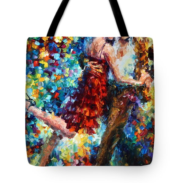 Passion Dancing Tote Bag by Leonid Afremov
