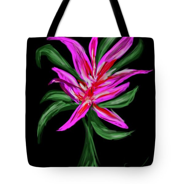 Tote Bag featuring the digital art Passion Flower by Christine Fournier