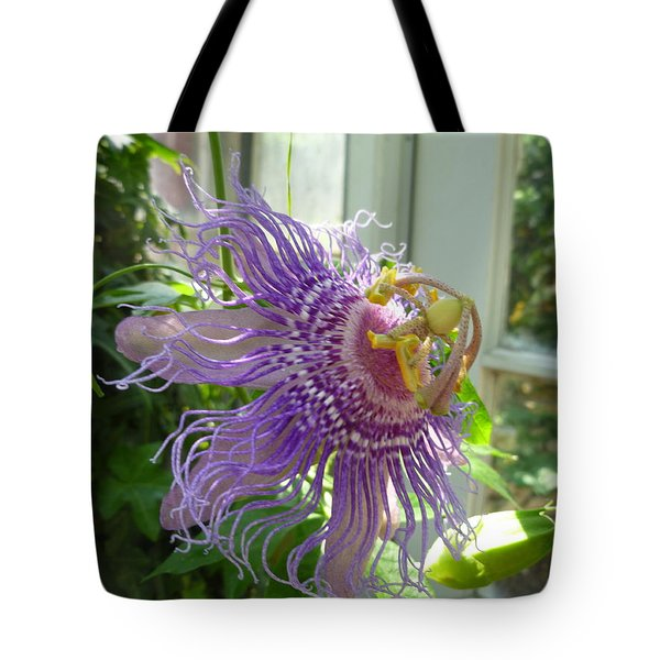 Passion Flower Tote Bag by Lingfai Leung