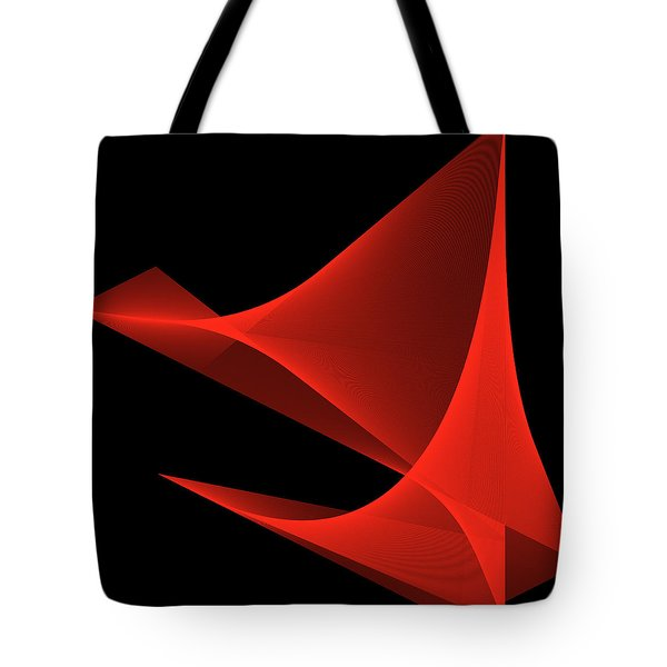 Tote Bag featuring the digital art Passion by Karo Evans