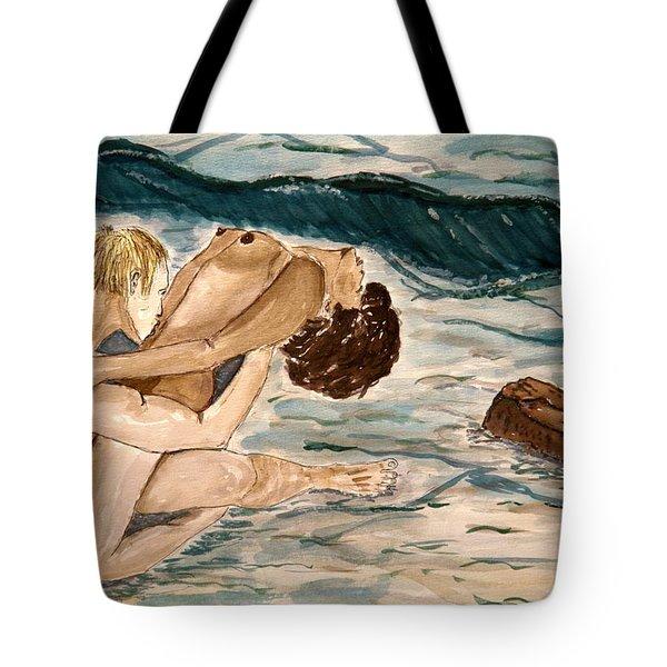Passion Of Love. Tote Bag by Shlomo Zangilevitch