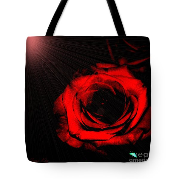 Passion. Red Rose Tote Bag