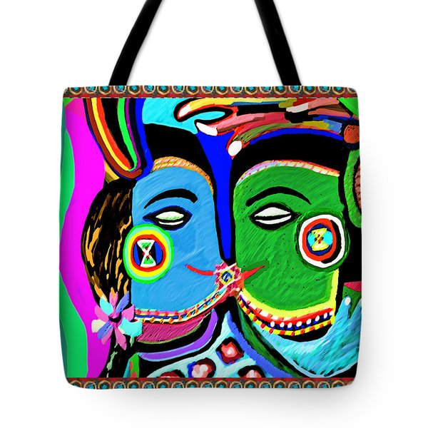Passionate Kiss Kamasutra Khajuraho India Cave Style Art Navinjoshi Rights Managed Images Graphic De Tote Bag