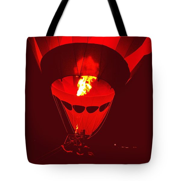 Tote Bag featuring the painting Passion's Flame by Nancy Cupp