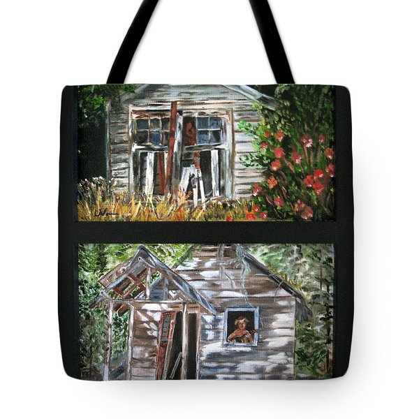 Tote Bag featuring the painting Past Prime  by LaVonne Hand