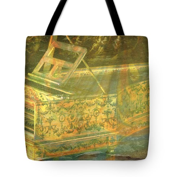 Tote Bag featuring the mixed media Past To Present by Ally  White