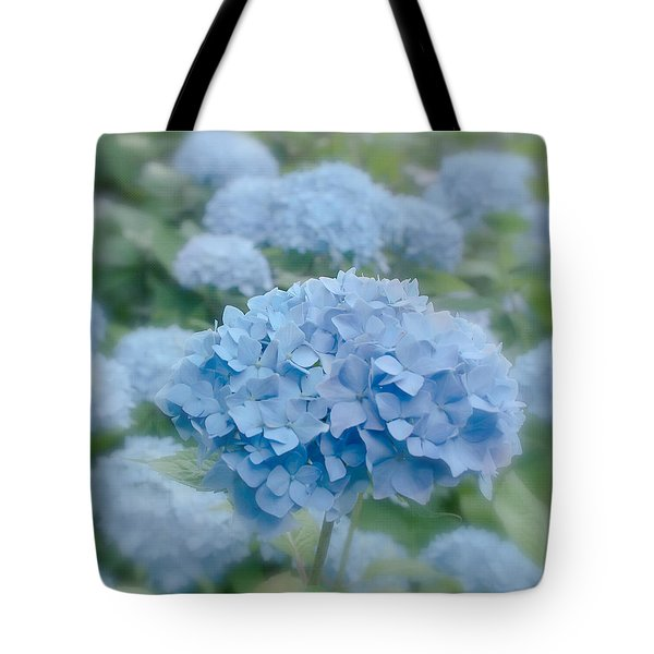 Pastel Blue Hydrangea Tote Bag by Kim Hojnacki