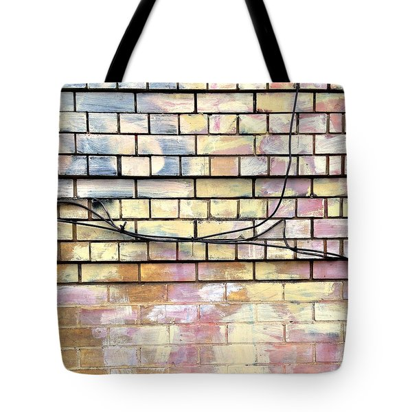 Pastel Brick Wall Tote Bag