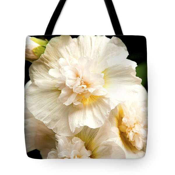 Tote Bag featuring the photograph Pastel Delphinium by Jerry Cowart