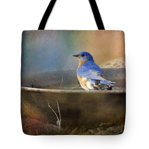 Pastel Eastern Bluebird Tote Bag
