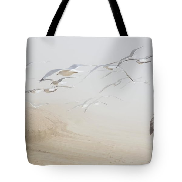 Pastel Gulls In Fog Tote Bag