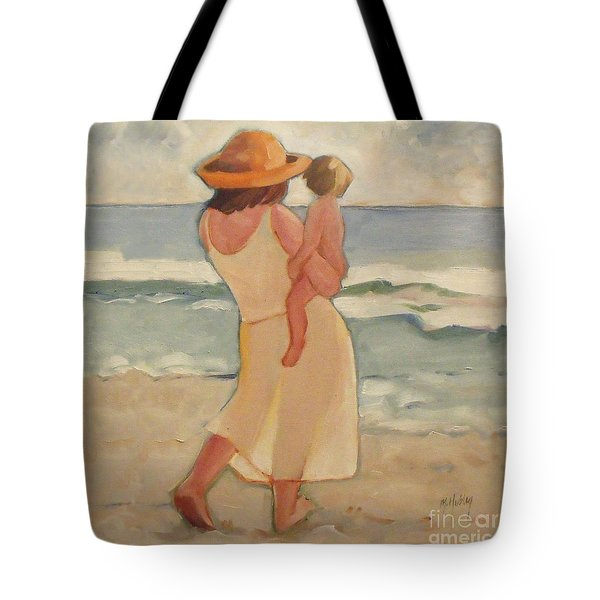 Pastel Morning Beach Pastel Morning Mother And Baby Tote Bag
