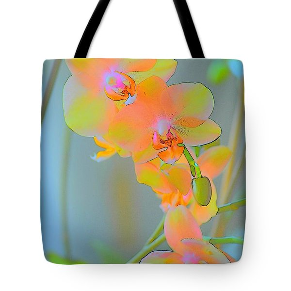 Pastel Orchids Tote Bag