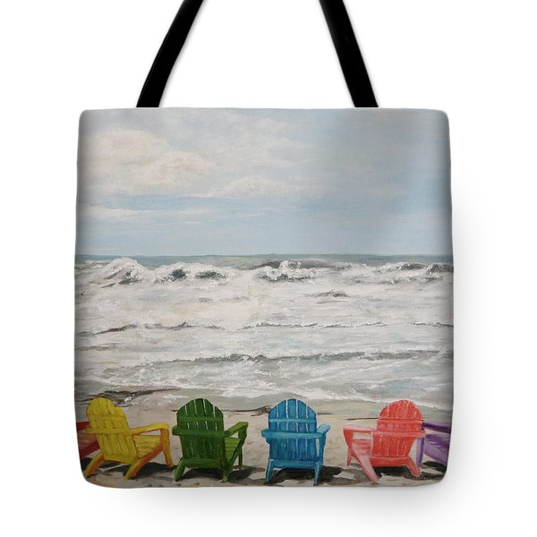 Tote Bag featuring the painting Pastel Paradise by Sandra Nardone