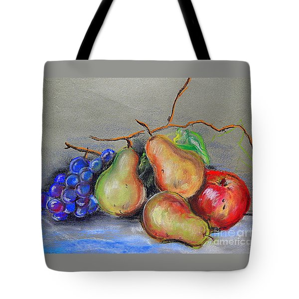 Pastel Pear Still Life Tote Bag
