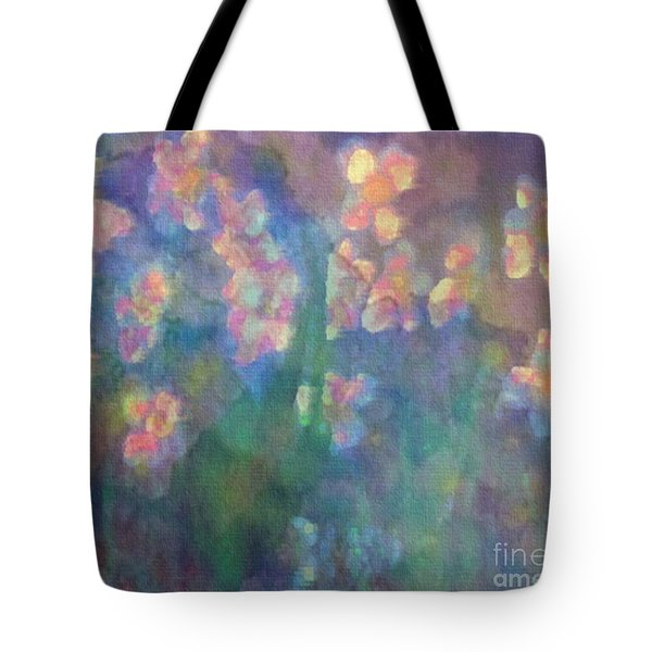 Tote Bag featuring the painting Pastel Petals by Holly Martinson