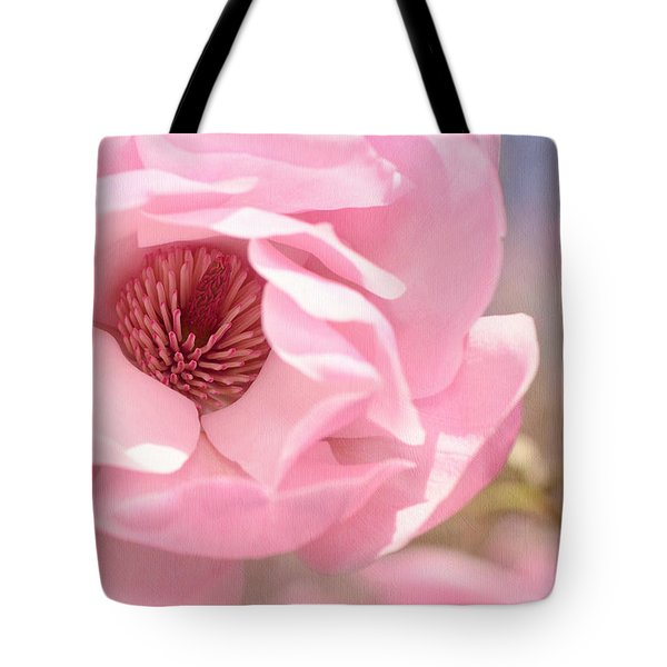 Pastel Pink Petals And Paint Tote Bag by Lisa Knechtel