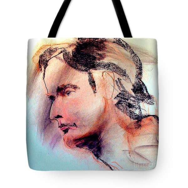 Pastel Portrait Of A Man Tote Bag