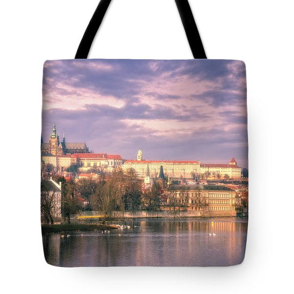 Pastel Prague Morning Tote Bag by Joan Carroll