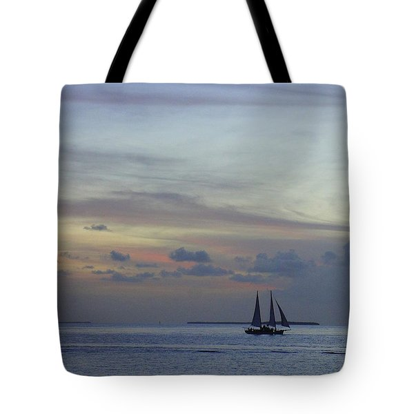 Tote Bag featuring the photograph Pastel Sky by Laurie Perry