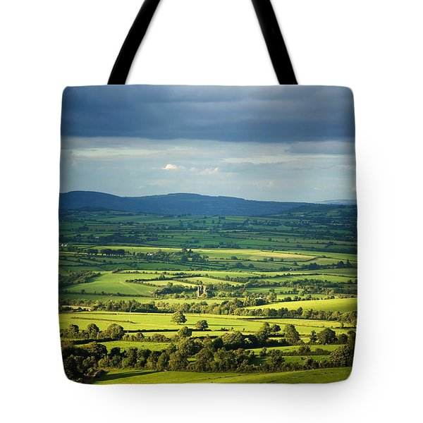 Pastoral Fields, Near Clonea, County Tote Bag