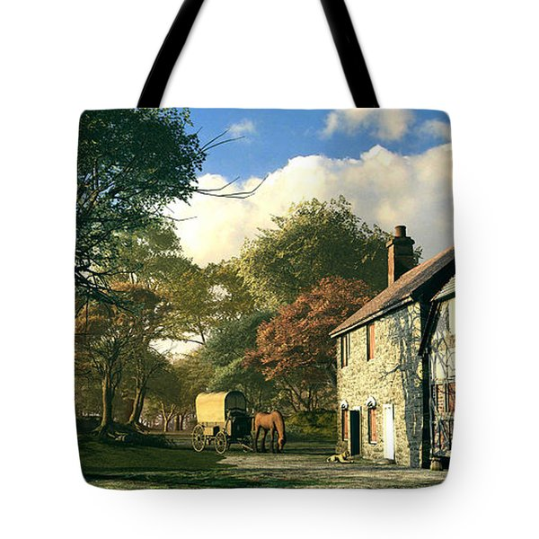 Pastoral Homestead Tote Bag by Dominic Davison