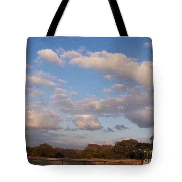 Pasture Clouds Tote Bag by Susan Williams