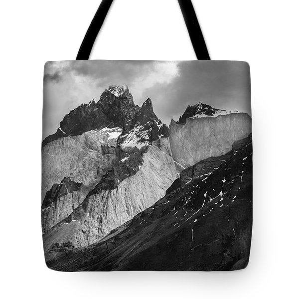 Patagonian Mountains Tote Bag