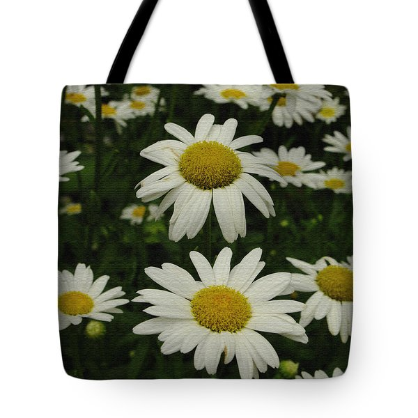 Tote Bag featuring the photograph Patch Of Daisies by James C Thomas