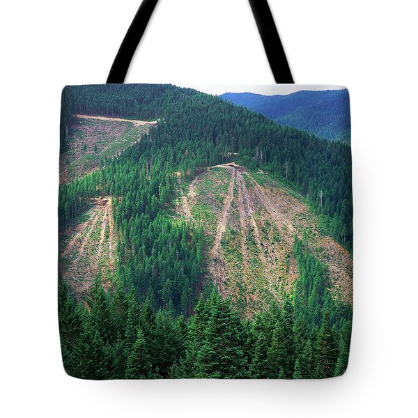 Patches Of Clearcut Mountain Tote Bag