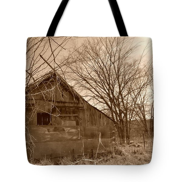Patchwork Barn Tote Bag