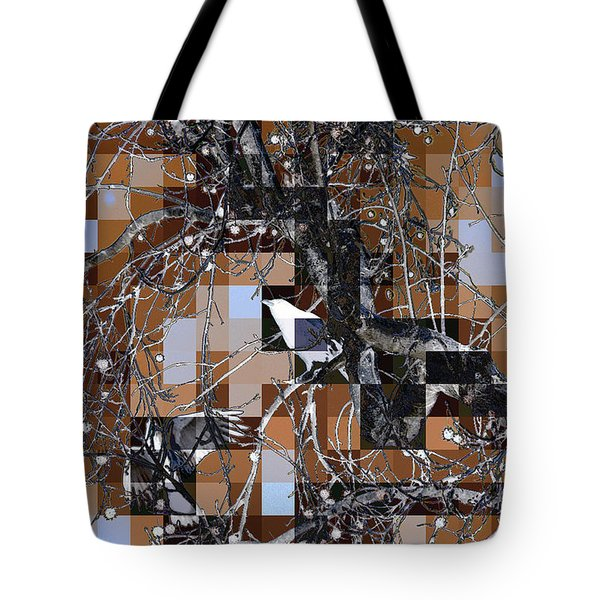 Patchwork Crows Tote Bag